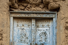 Omani Stock Photo of Omani traditional style wooden door