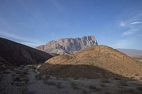 Omani Stock Photo of Mountain Road to Jebel Shams Oman